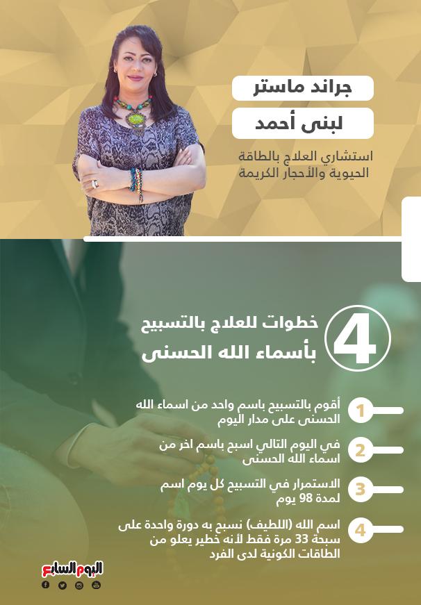 4 خطوات للعلاج بالتسبيح بأسماء الله الحسنى