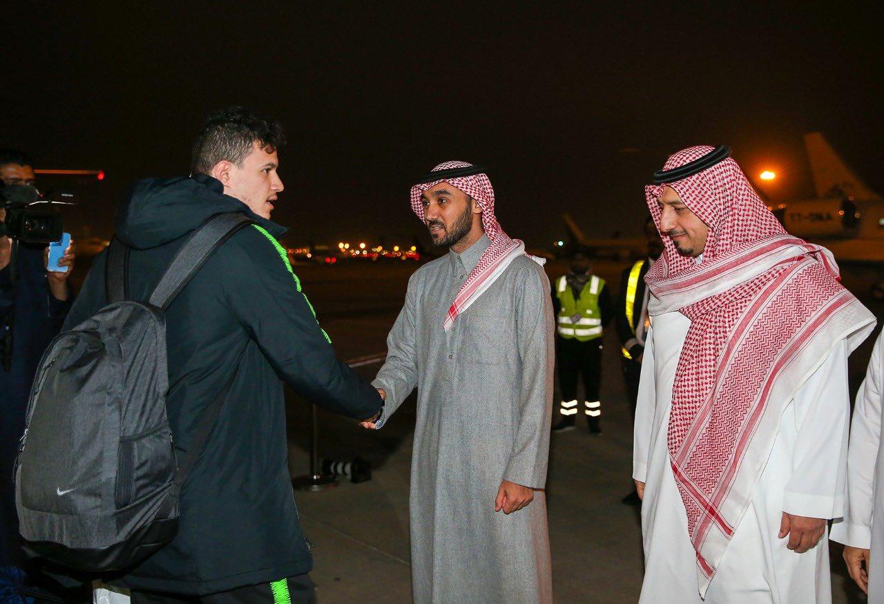 استقبال المنتخب السعودي