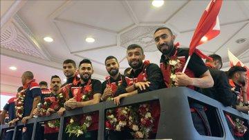 استقبال منتخب البحرين بعد عودته للمنامة (3)