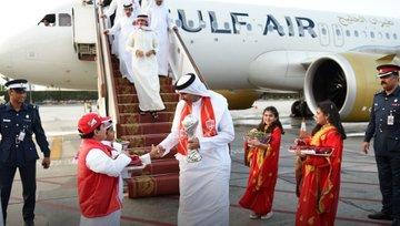 استقبال منتخب البحرين بعد عودته للمنامة (2)