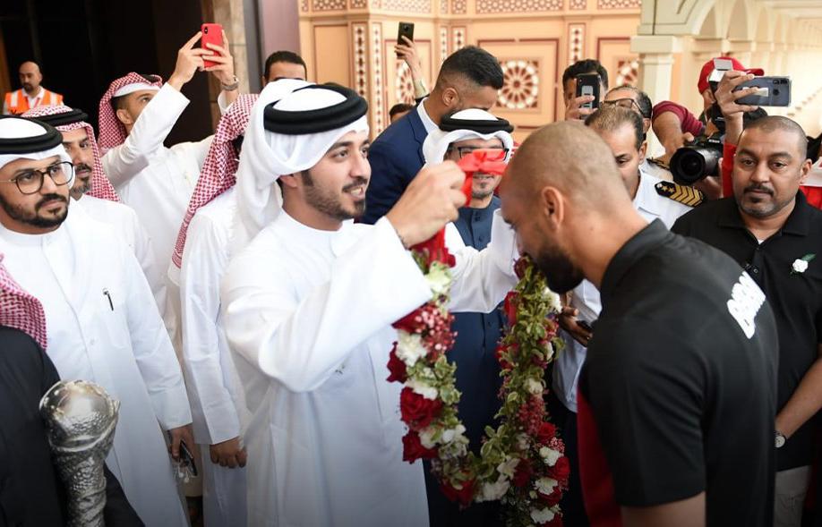 استقبال منتخب البحرين بعد عودته للمنامة (1)