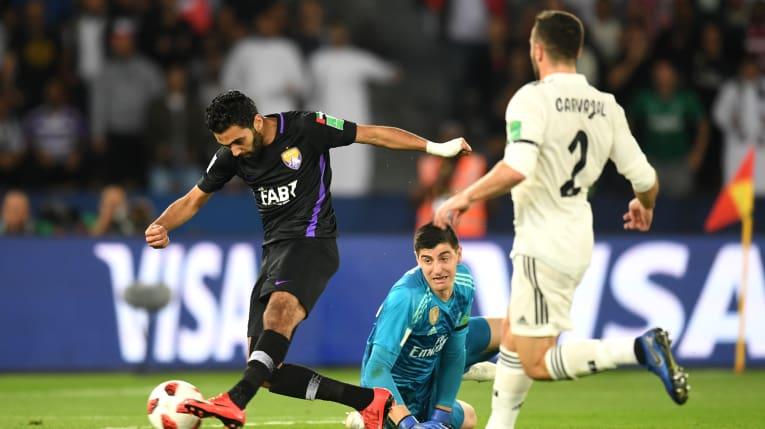 حسين الشحات في مباراة العين الاماراتي وريال مدريد