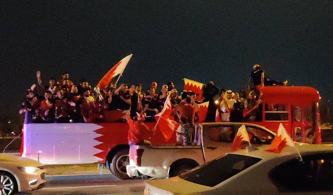 استقبال منتخب البحرين بعد عودته للمنامة (4)