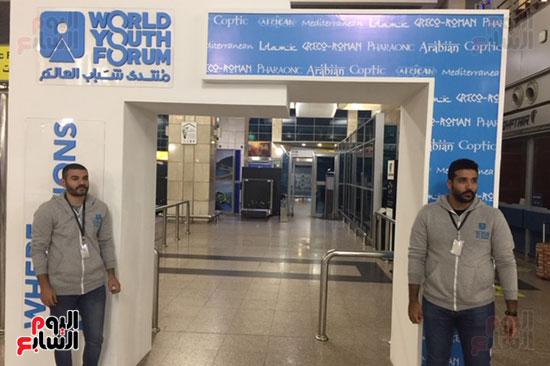مطار القاهرة الدولى وضع اللمسات النهائية لاستقبال ضيوف منتدي شباب العالم