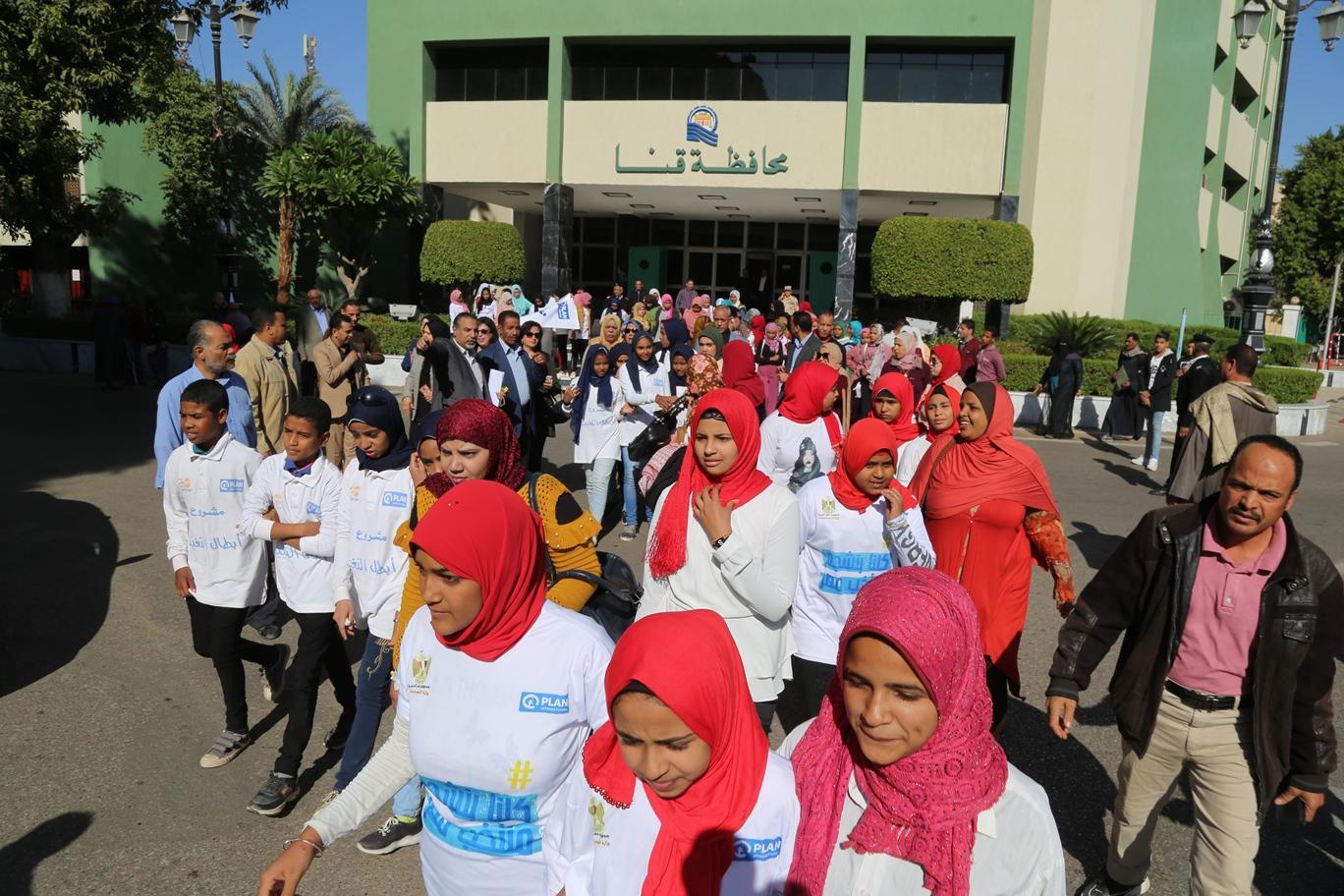 ماراثون رياضى ضمن فعاليات حملة مناهضة العنف ضد المرأة بقنا (3)
