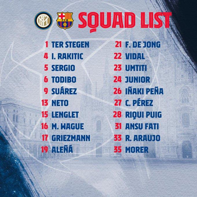 قائمة برشلونة
