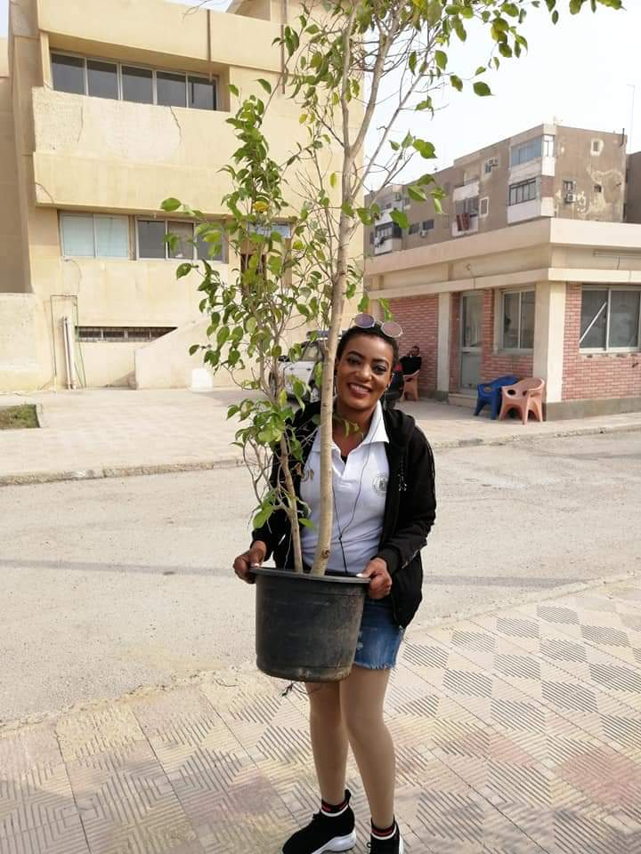 متطوعو الاتحاد الافريقى يزرعون 100 شجرة بمنتدى 15 مايو (12)