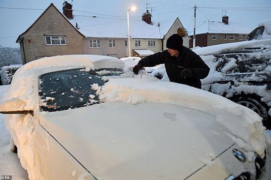الثلوج كست بريطانيا فو اسوأ موجة طقس منذ 7 سنوات  (9)