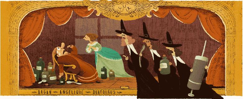 جوجل يحتفل بموليير