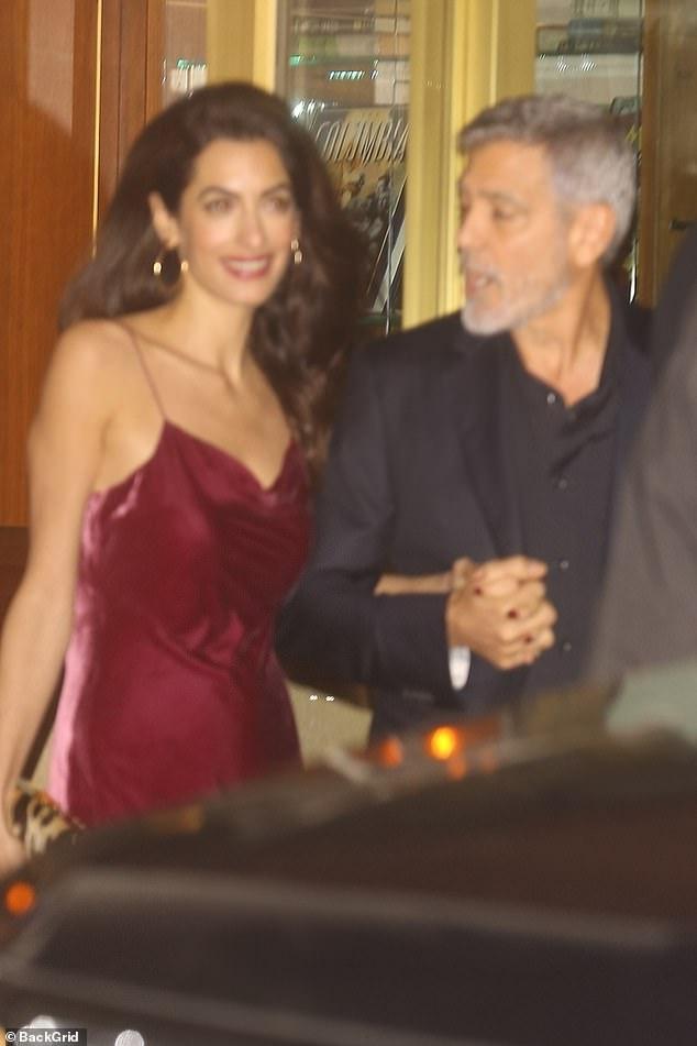 جورج كلوني وزوجته (2)