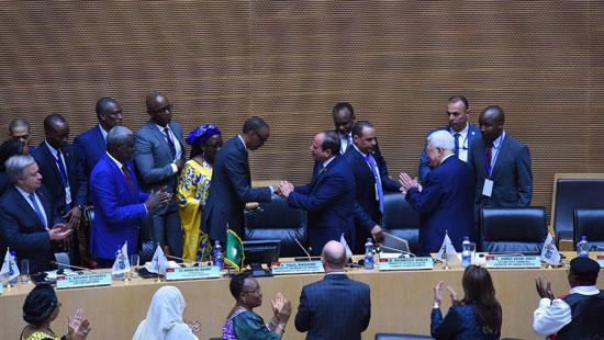 تسليم رئاسة الاتحاد الأفريقى، إلى الرئيس عبد الفتاح السيسى (8)