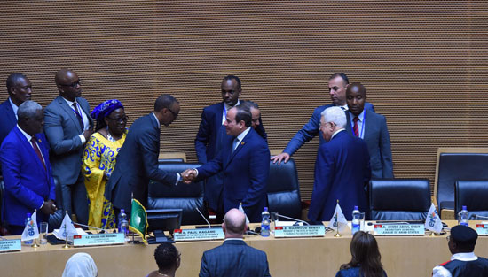 تسليم رئاسة الاتحاد الأفريقى، إلى الرئيس عبد الفتاح السيسى (1)