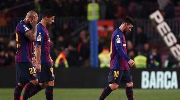 برشلونة يعاني في الدوري الاسباني