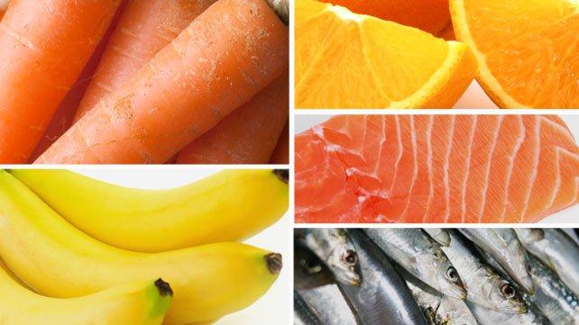 الأطعمة الغنية بالبوتاسيوم