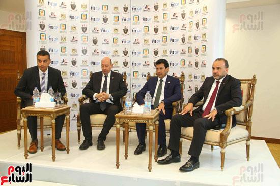مؤتمر إعلان تفاصيل بطولتى الجائزة الكبرى وكأس العالم للسلاح (6)