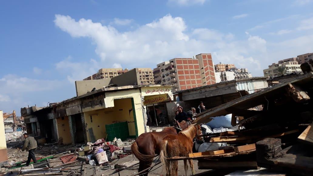 الانتهاء من إزالة المنطقة العشوائية المحيطة بسوق السمك الجديد وسجن بورسعيد (1)