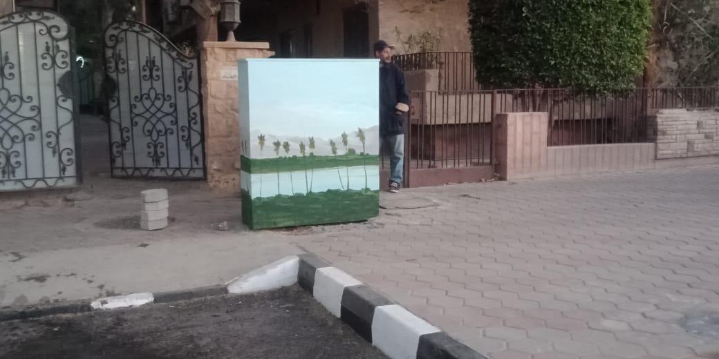 تحويل أكشاء الكهرباء الى لوحات فنية (1)