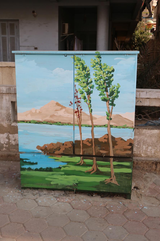 تحويل أكشاء الكهرباء الى لوحات فنية (4)