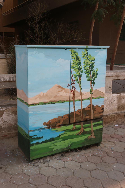 تحويل أكشاء الكهرباء الى لوحات فنية (2)