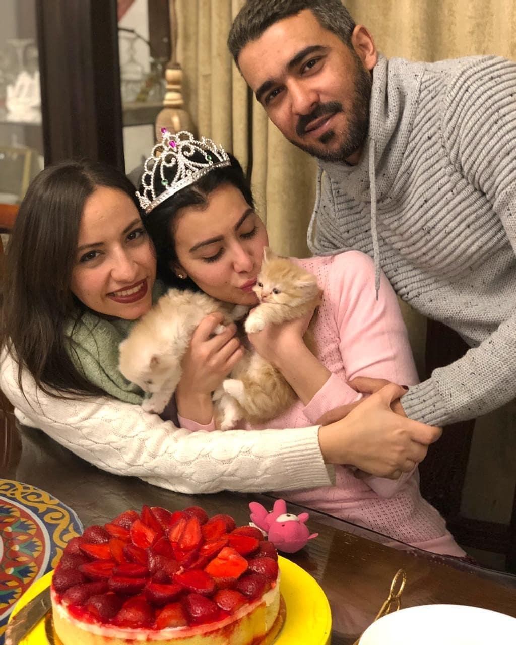ميرهان مع قطتها