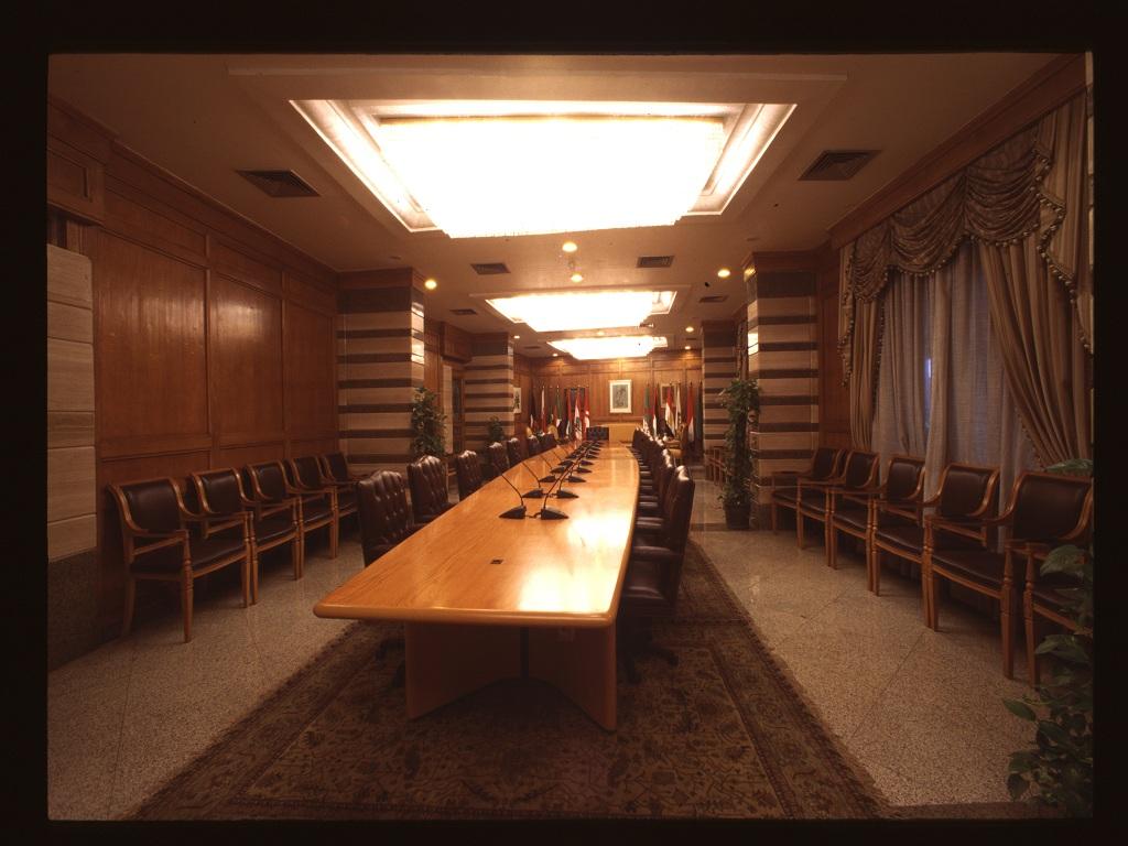 قاعة الاجتماعات الرئيسية لاتحاد المحاكم والمجالس الدستورية