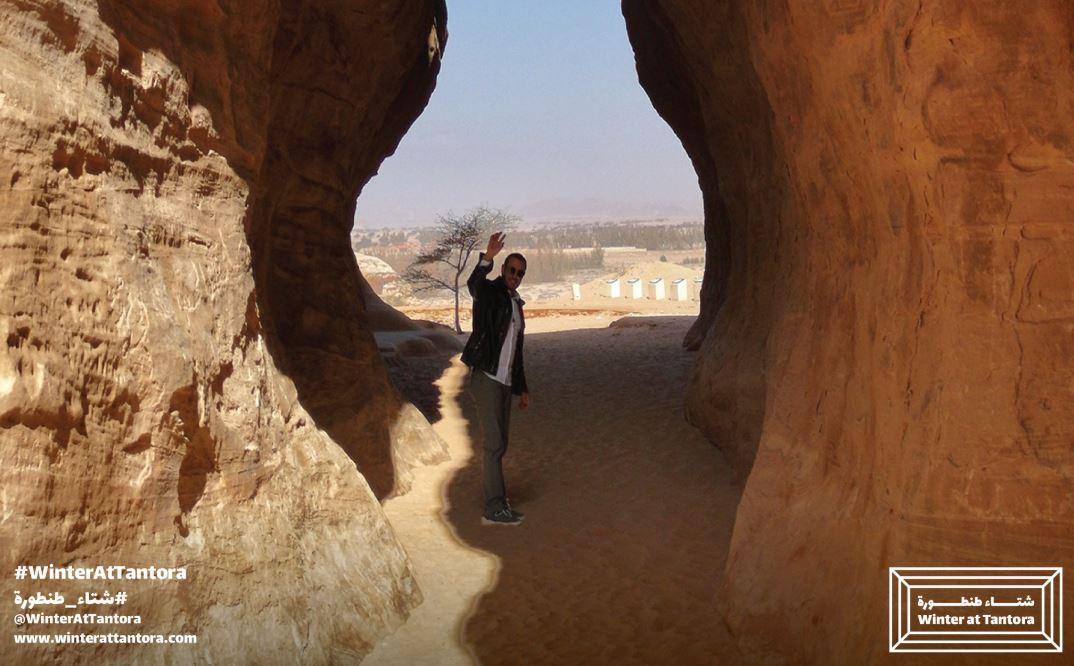 كاظم الساهر فى جولة بمدينة العلا (2)