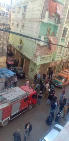 حادث انهيار عقار كرموز بالإسكندرية  (1)