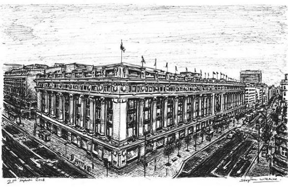 رسم شارع أكسفورد بلندن
