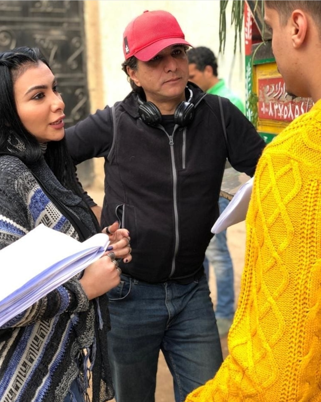 ميرهان حسين مع المخرج سميح انقاش