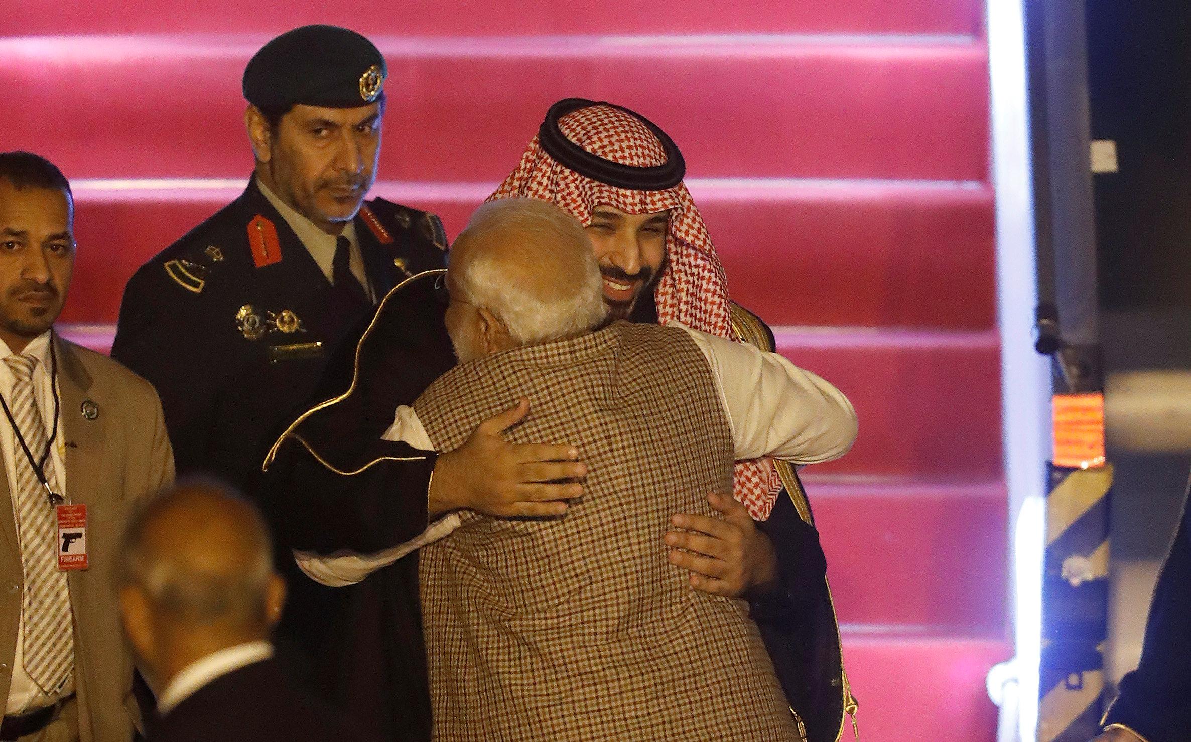 ولى العهد السعودى ورئيس وزراء الهند