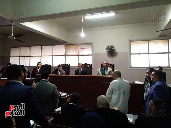 محاكمة الطبيب قاتل زوجته وأولاده بكفر الشيخ (14)