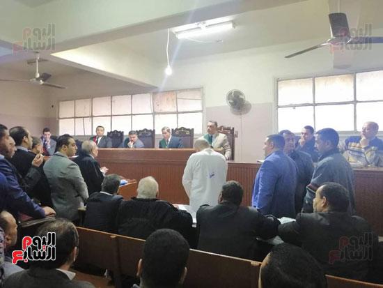 محاكمة الطبيب قاتل زوجته وأولاده بكفر الشيخ (1)