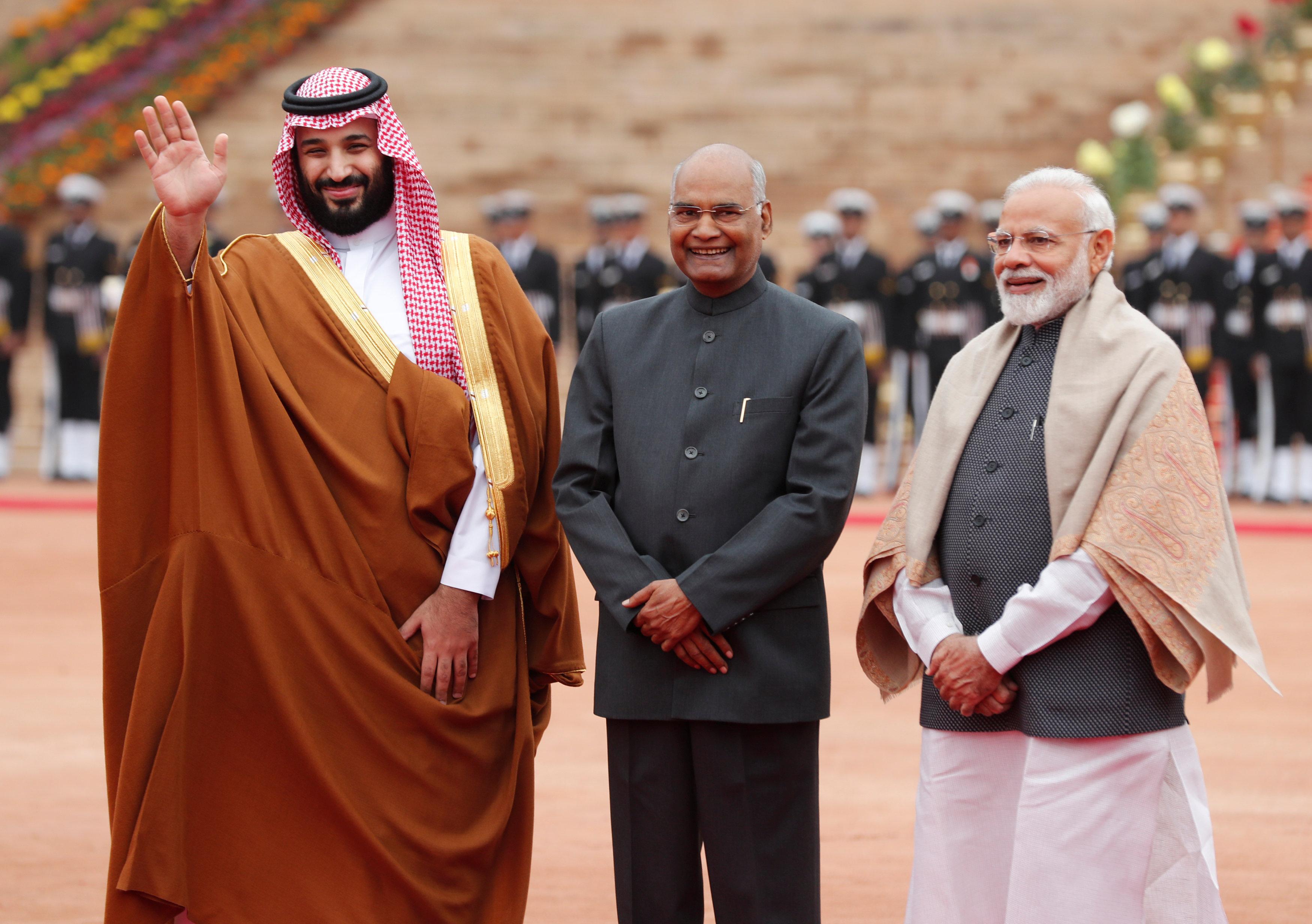 رئيس الهند ومودى وولى العهد السعودى