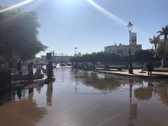 غرق ميدان المحطة وديوان محافظة أسوان  (3)