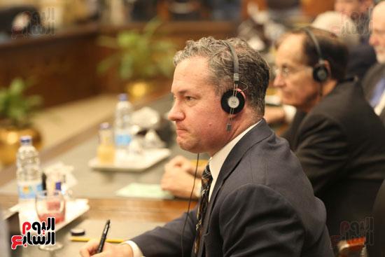 وكيل النواب يستقبل اعضاء الحوار المصرى الأمريكى بمقر البرلمان   (8)