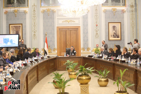 وكيل النواب يستقبل اعضاء الحوار المصرى الأمريكى بمقر البرلمان   (10)