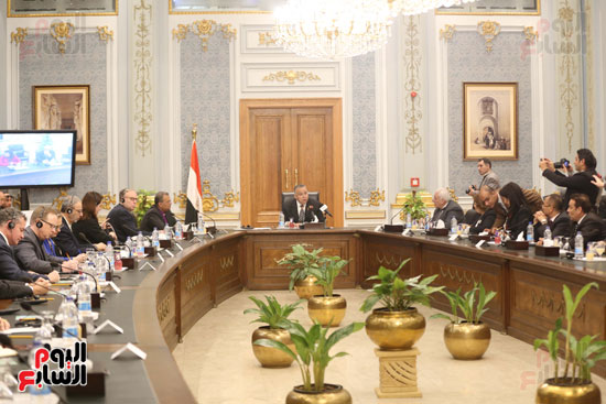 وكيل النواب يستقبل اعضاء الحوار المصرى الأمريكى بمقر البرلمان   (5)