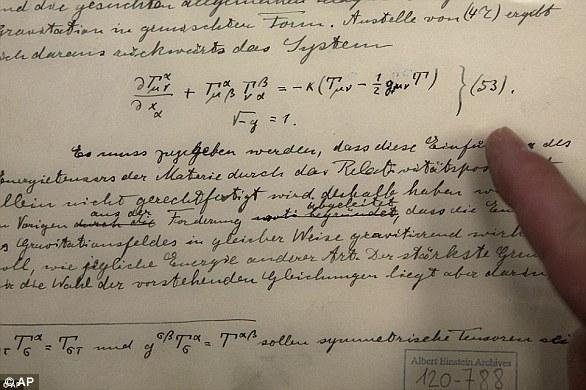 لوثائق التاريخية الأصلية المتعلقة بتنبؤ آينشتاين بوجود موجات جاذبية ، تظهر في الجامعة العبرية في القدس
