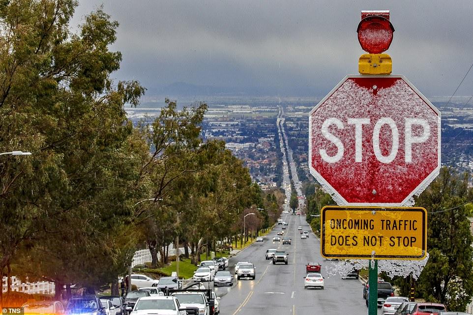 لم تتساقط الثلوج فى لوس أنجلوس منذ 57 عاما (1)