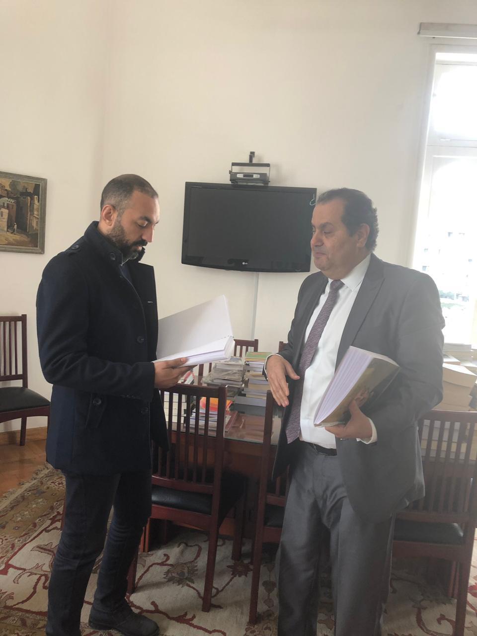 الدكتور أنور مغيث مع أحمد منصور محرر اليوم السابع  (3)