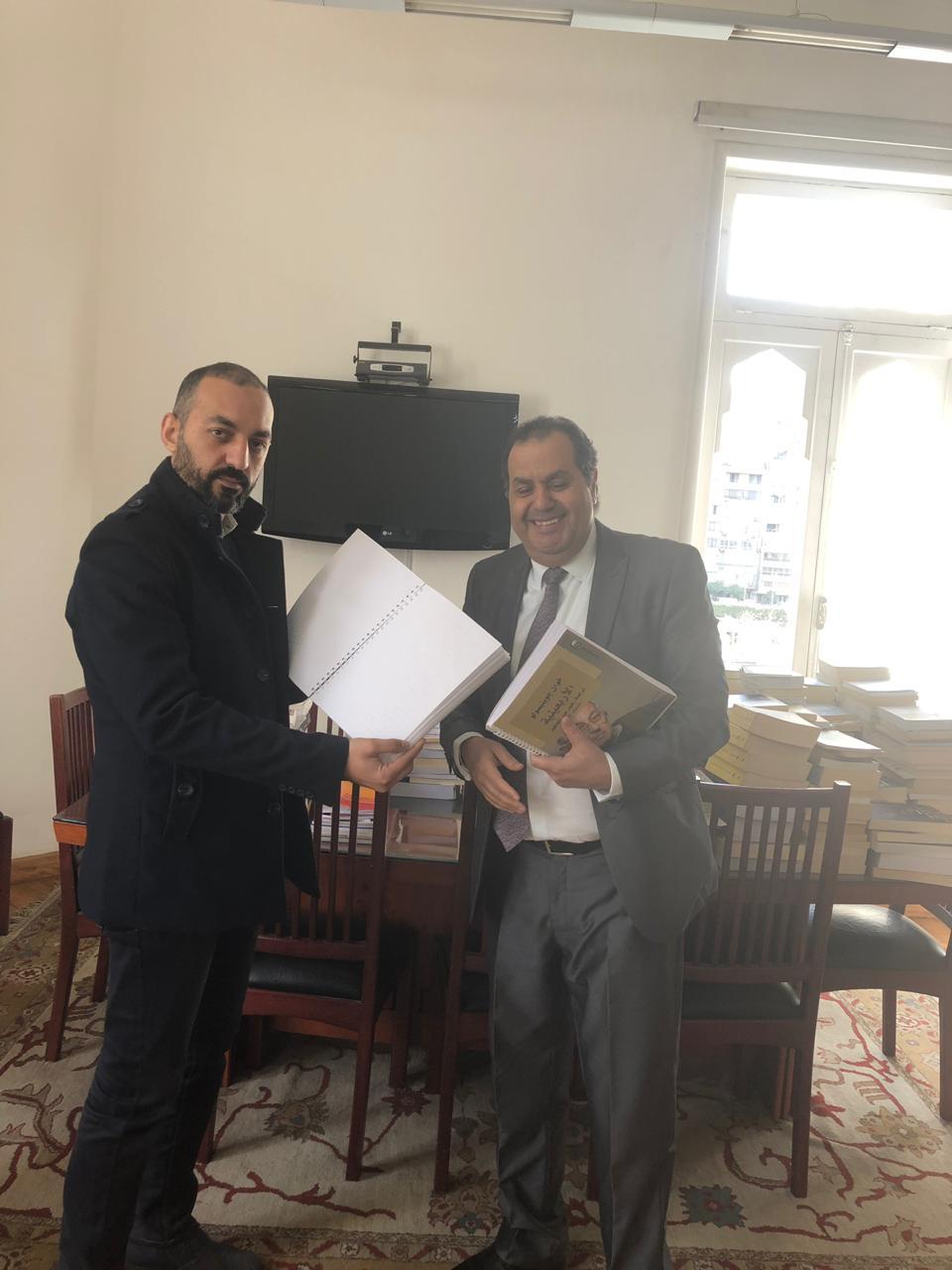 الدكتور أنور مغيث مع أحمد منصور محرر اليوم السابع  (2)