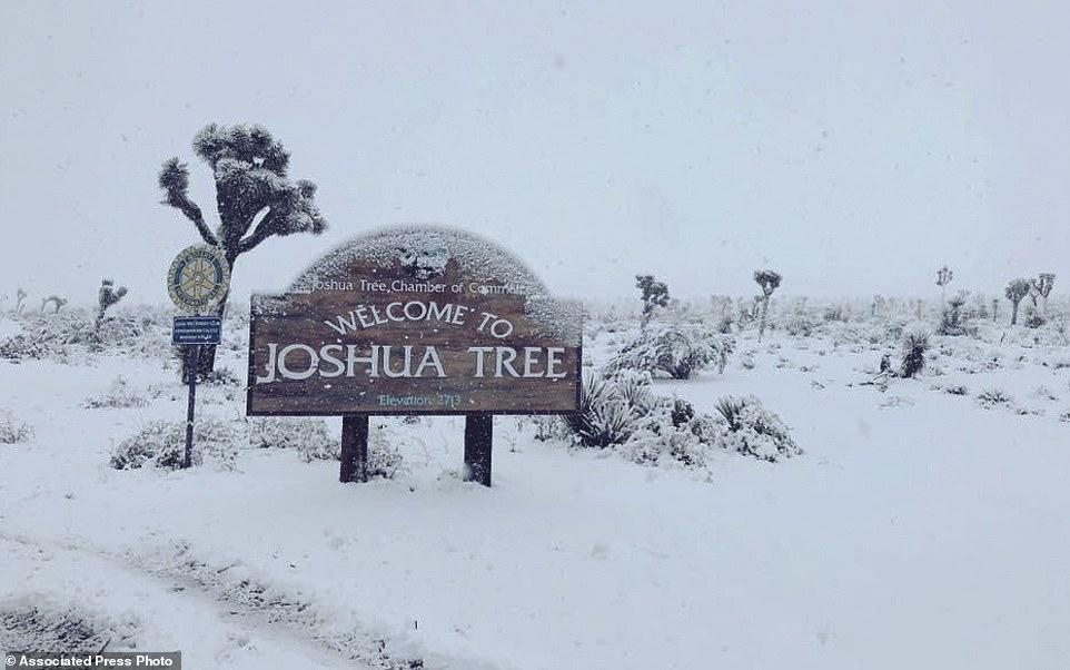 الثلوج فى منطقة سان برناردينو