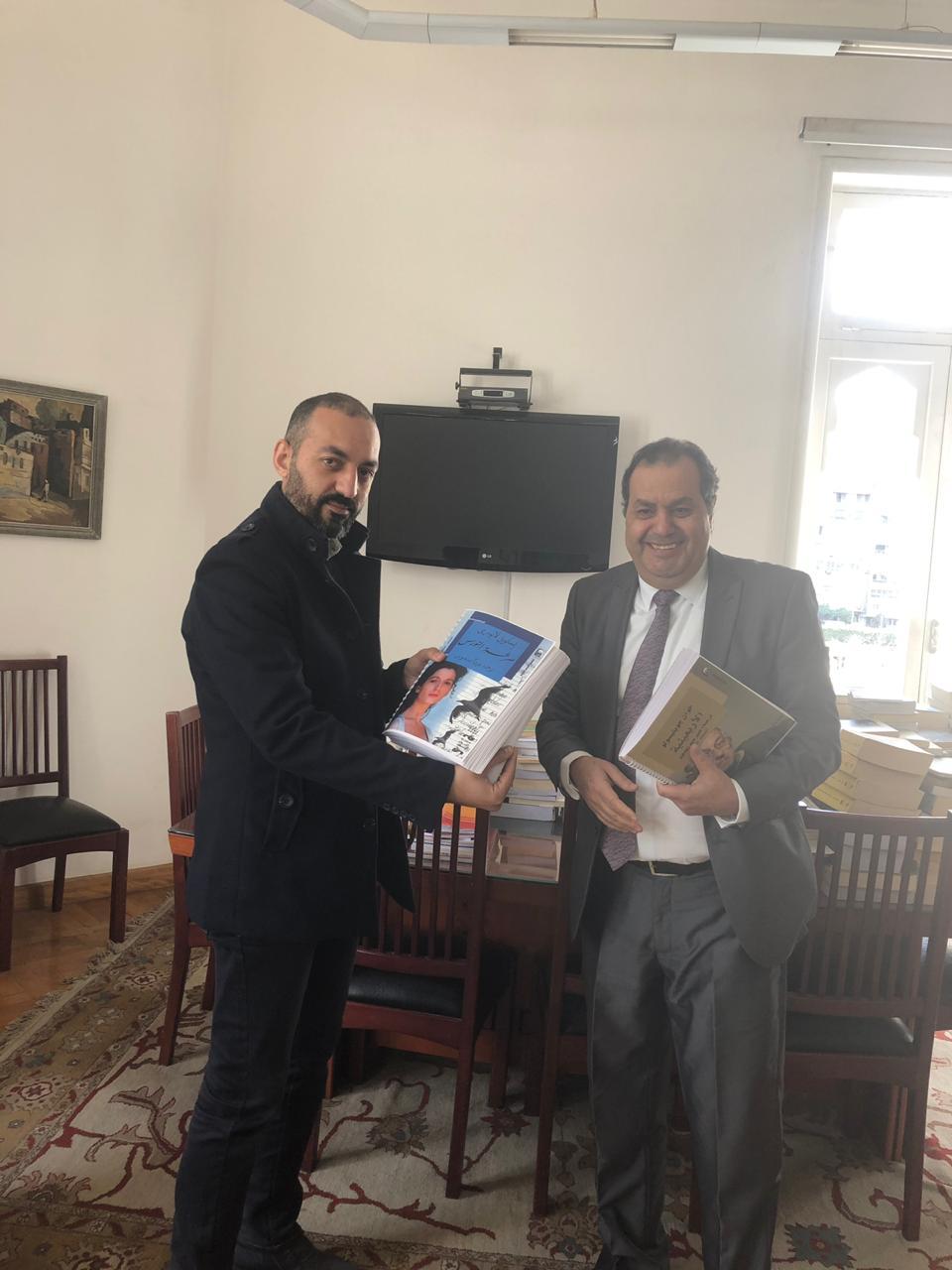 الدكتور أنور مغيث مع أحمد منصور محرر اليوم السابع  (1)