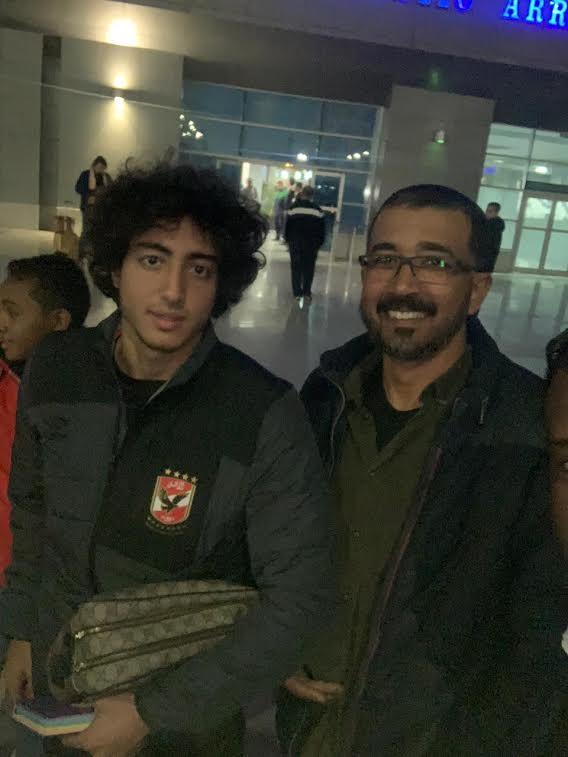 وصول لاعبى الأهلى المطار (1)