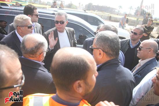 جولة وزير النقل لاشارات مغاغة (2)
