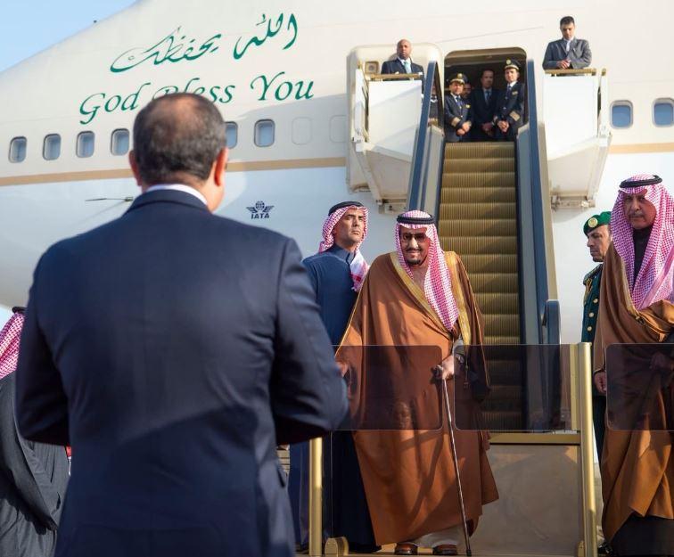 الرئيس السيسى يستقبل الملك سلمان