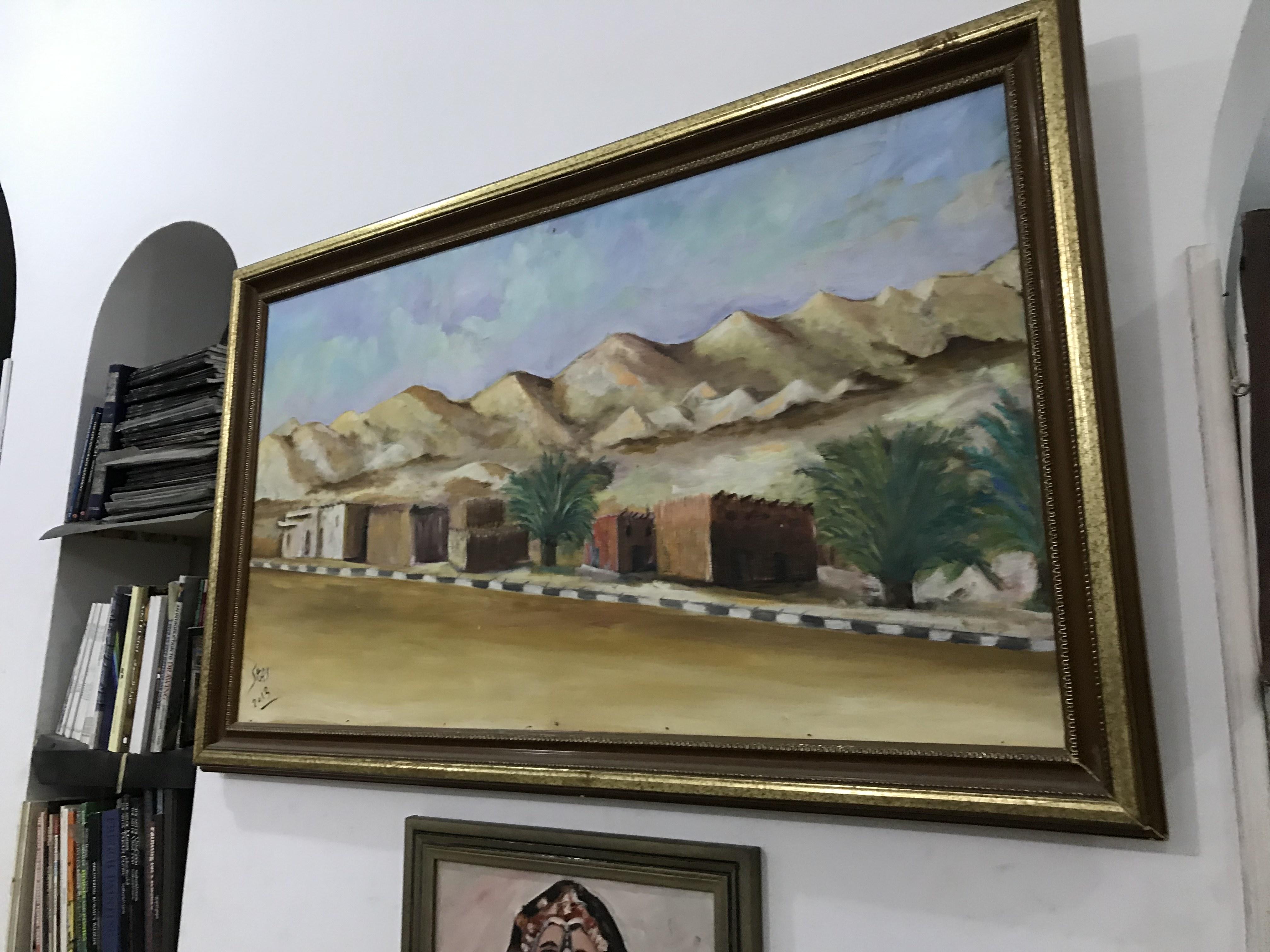 فنان تشكيلى يجسد تاريخ سيناء بالرسوم (2)