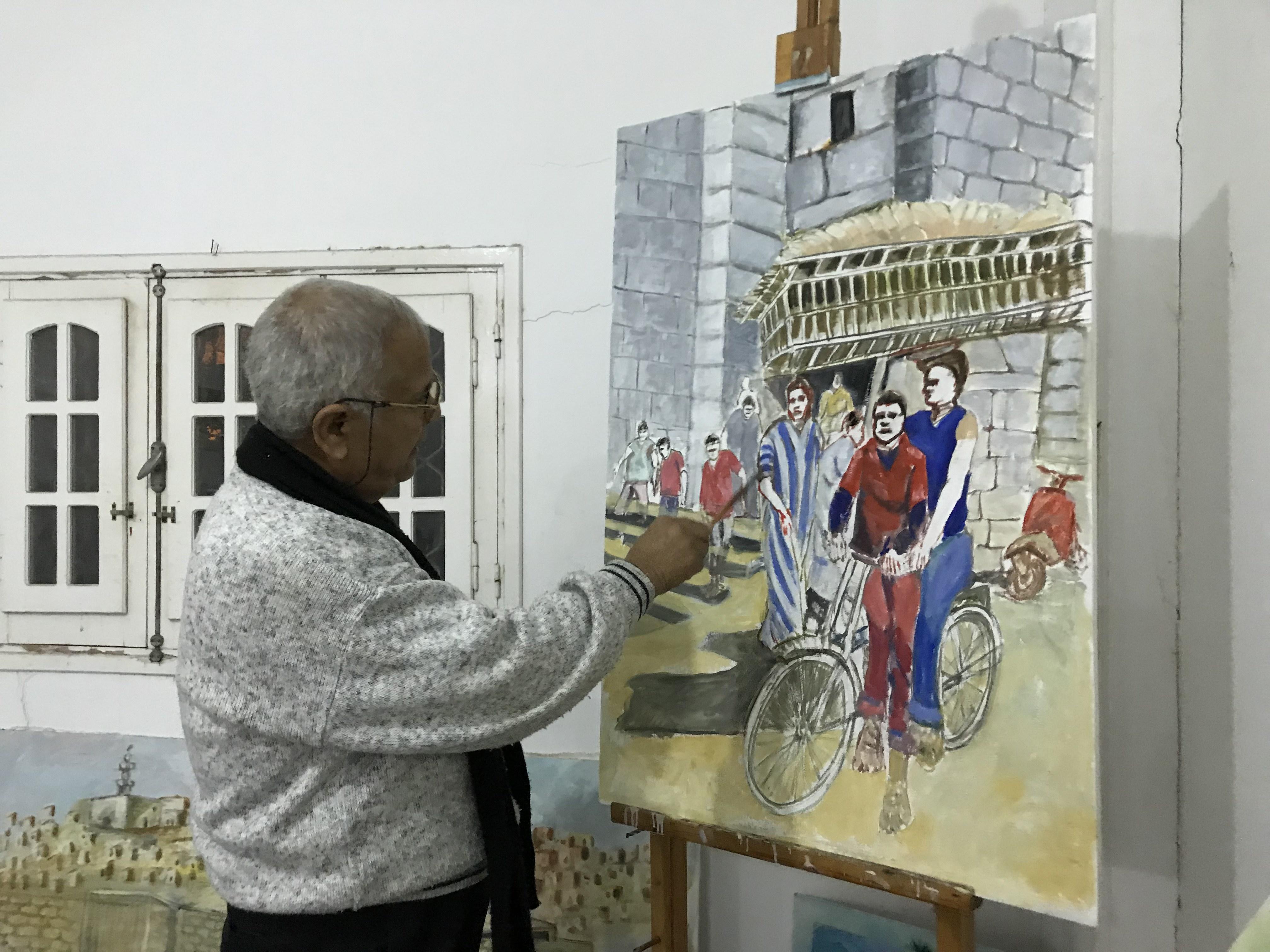 فنان تشكيلى يجسد تاريخ سيناء بالرسوم (11)