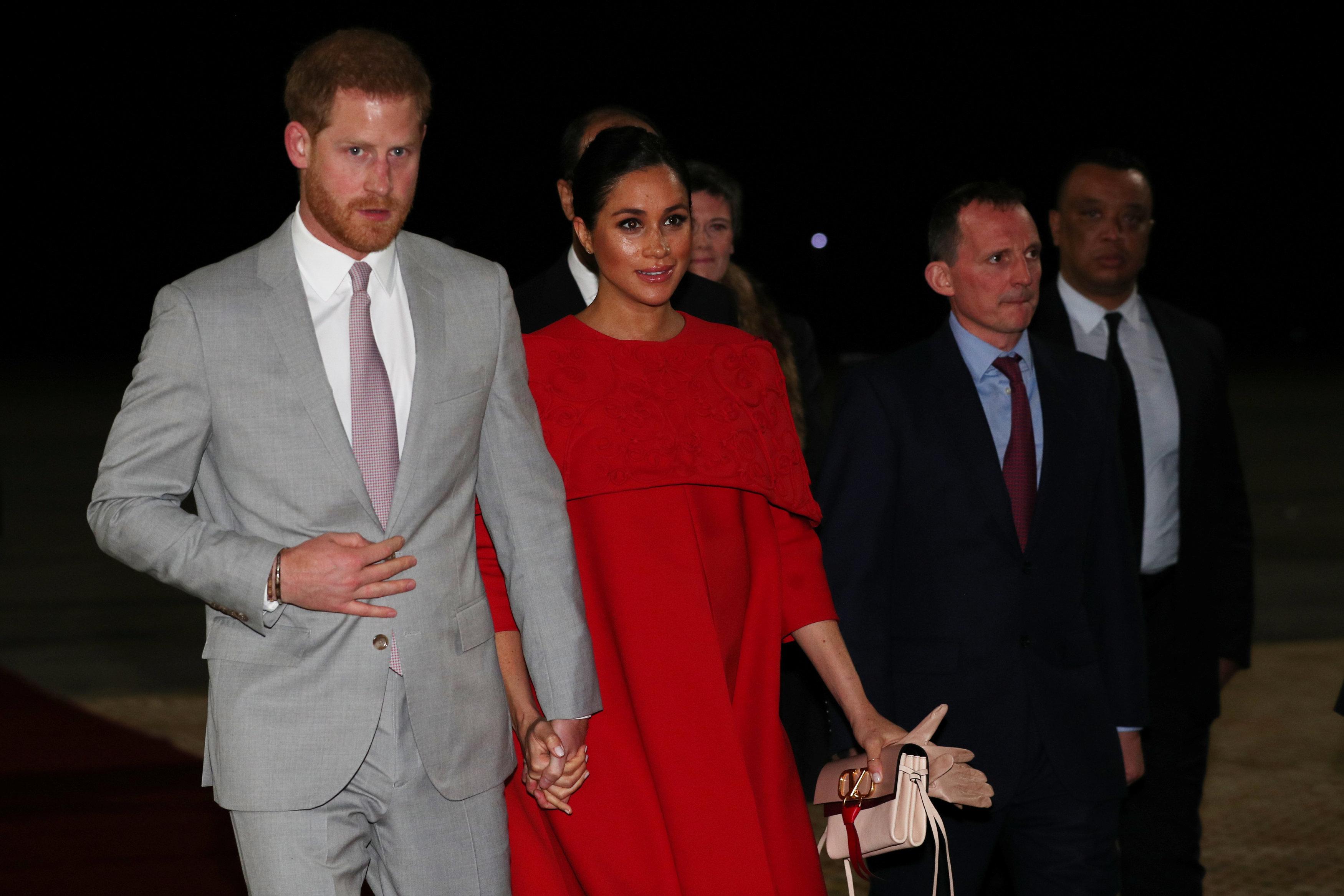 الأمير هارى وزوجته يصلان المغرب (1)