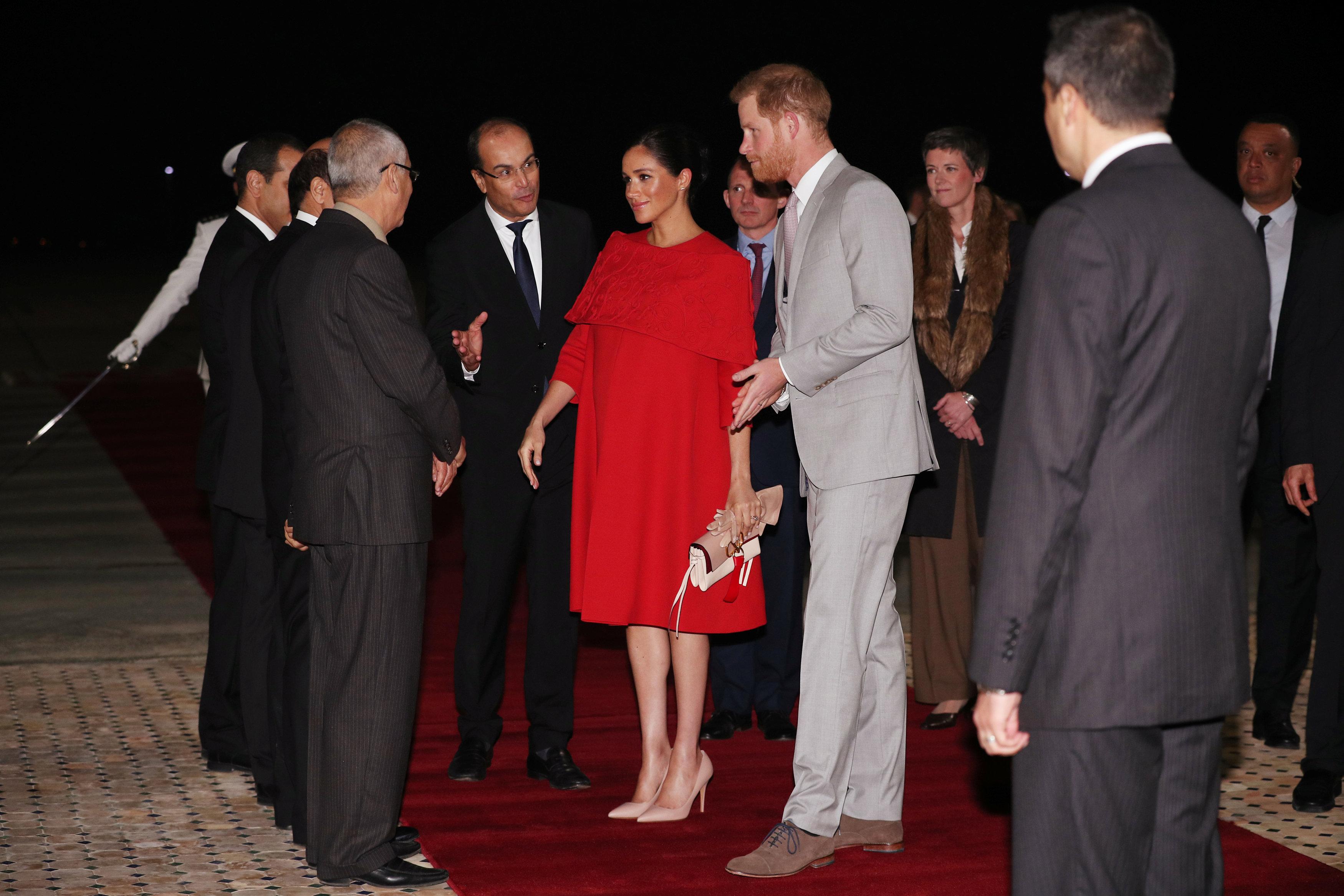 الأمير هارى وزوجته يصلان المغرب (3)